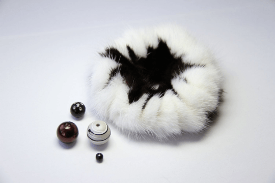 Buy Hair Scrunchie Real Mink White and Black