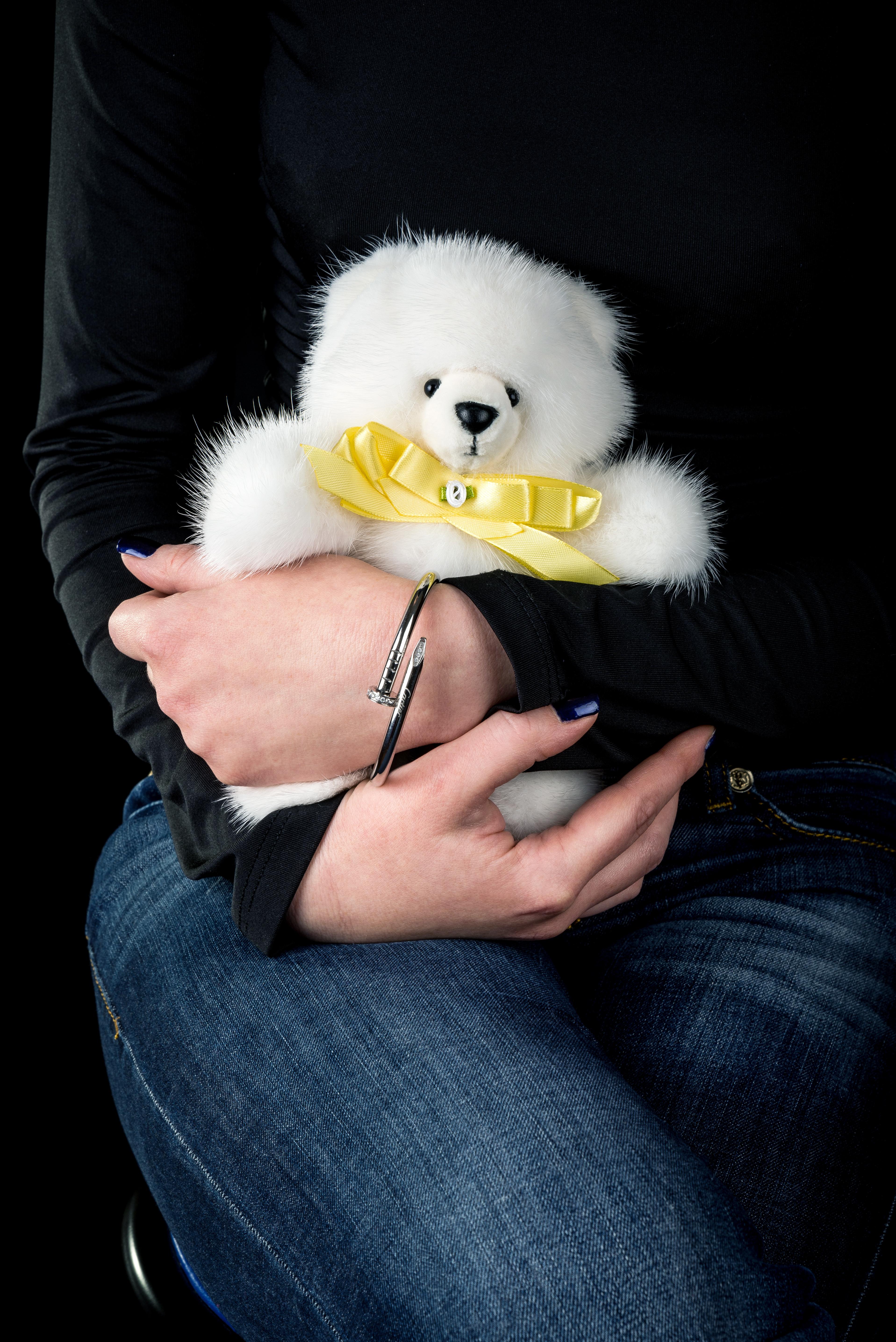 Buy Real Fur Mink Bear White