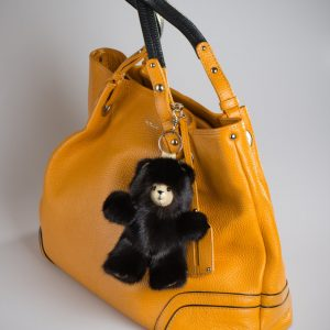 Buy Black Bear Grizzly Fur Keychain