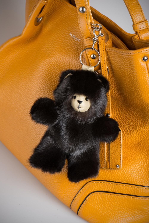 Buy Black Bear Grizzly Fur Keychain