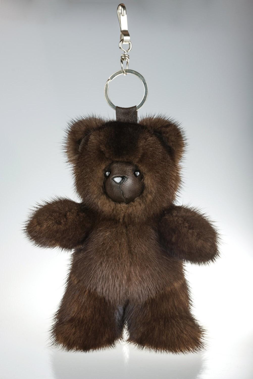 Buy Dark Brown Bear Fur Keychain