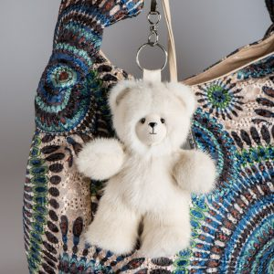 Buy Biege Bear Fur Keychain