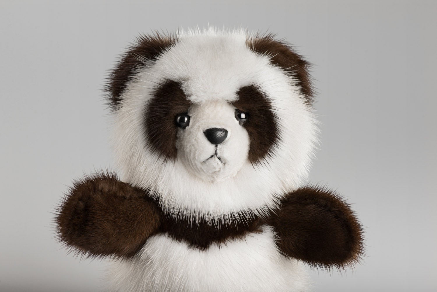 Buy Real Mink Panda Brown and White