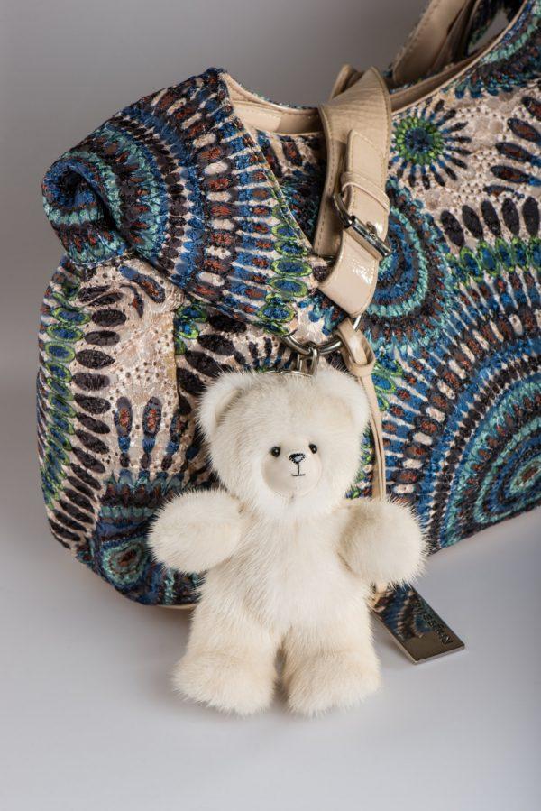 Buy Biege Bear Fur Keychain