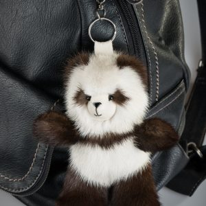 Buy Brown and Biege Panda Fur Keychain