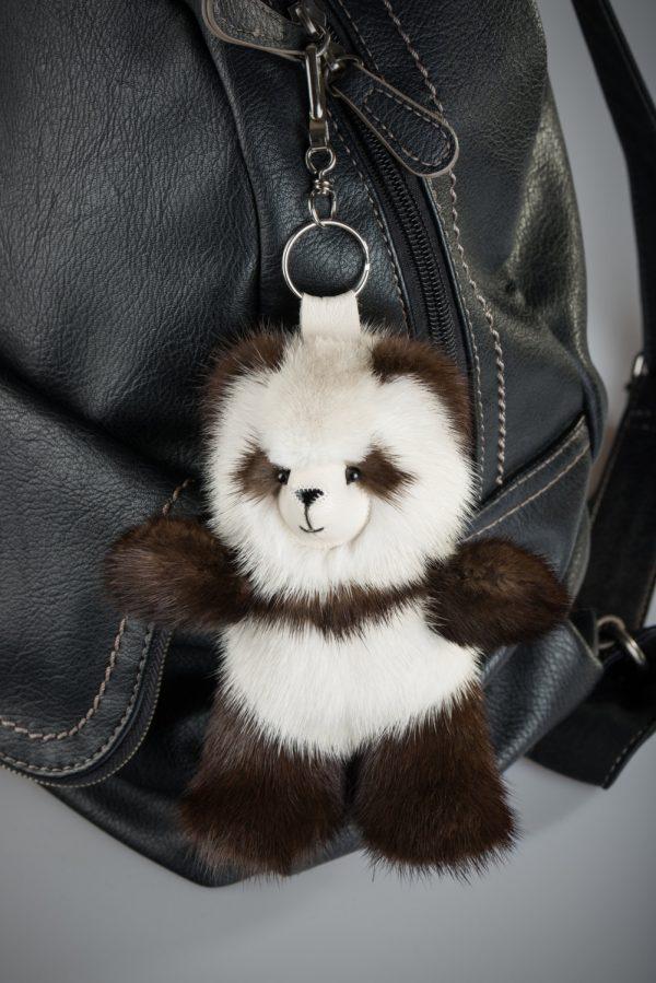 Buy Brown and Biege Panda Fur Keychain