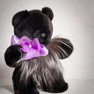 Buy Real Mink Black Fancy Bear