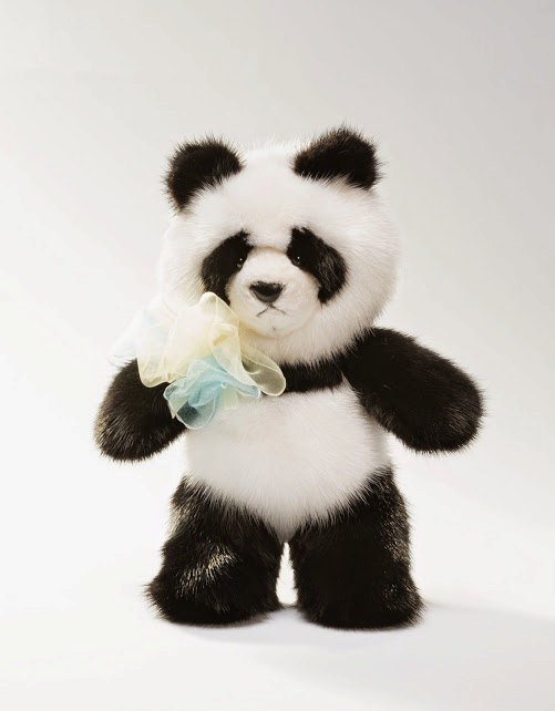 Buy Real Mink Panda Black and White
