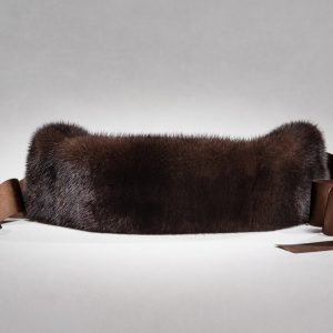 Buy Headband Real Fur Mink Brown