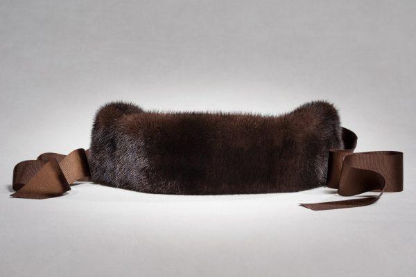 Buy Headband Real Fur Mink Brown