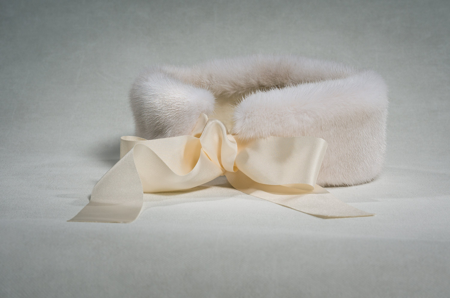 Buy Headband Real Fur Mink White