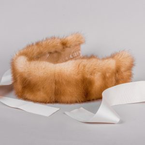 Buy Headband Real Fur Mink Gold