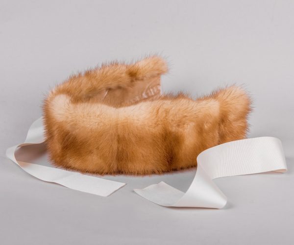 Buy Headband Real Fur Mink Gold