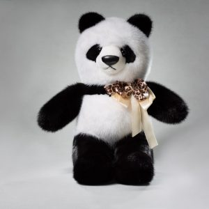 Buy Real Fur Mink Panda Big Black and White