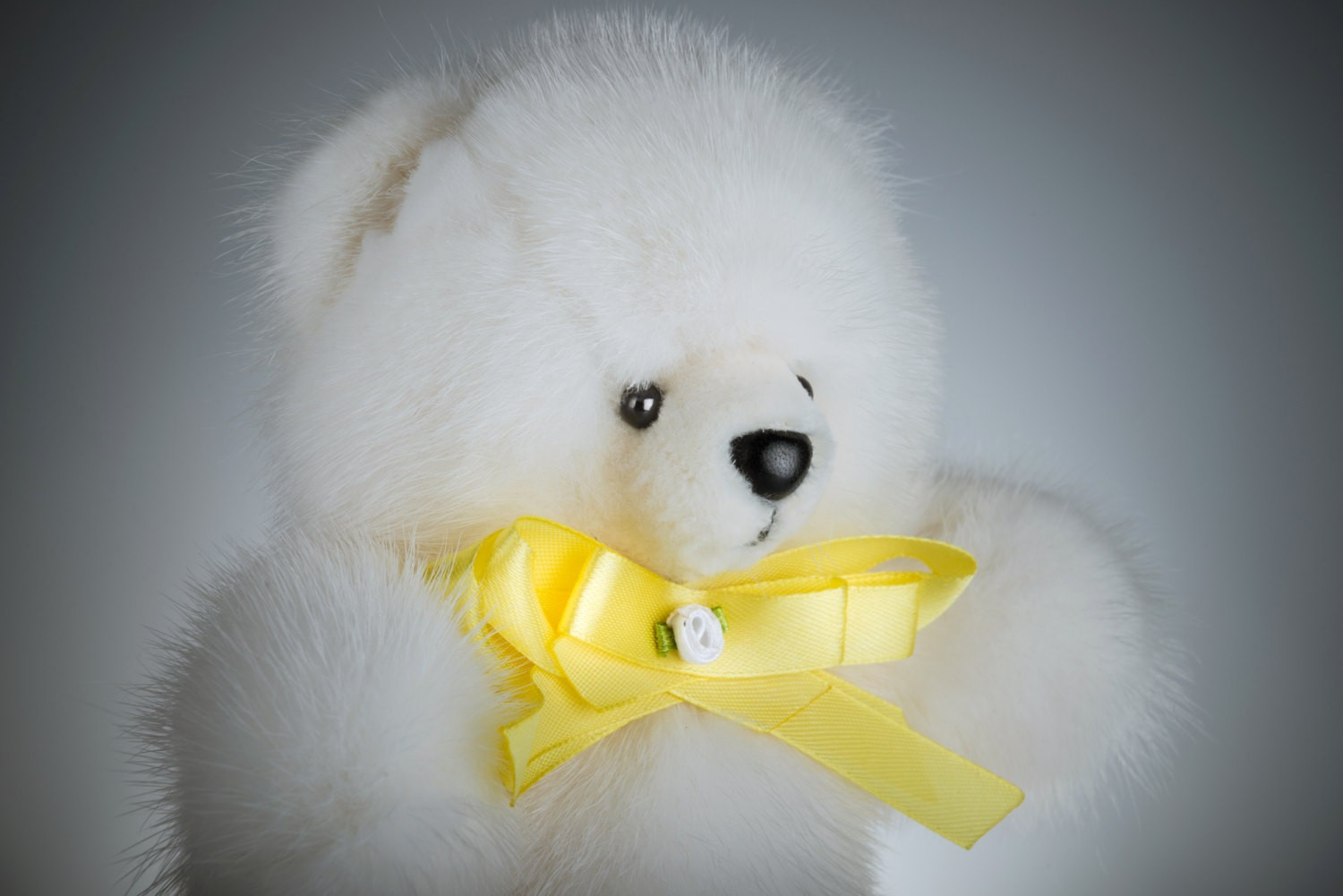 Buy Real Fur Mink Bear White