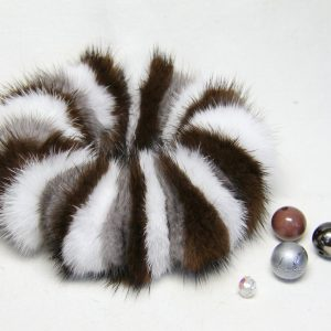 White, Brown and Grey Scrunchy