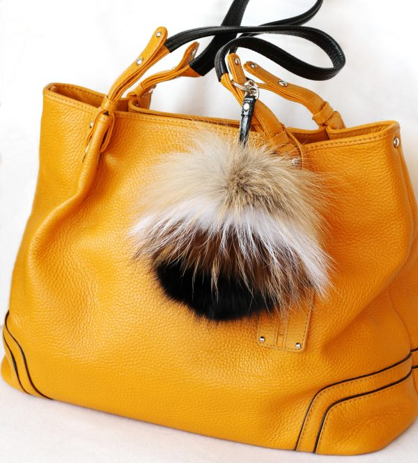 Buy Pom Pom Real Fur Bag Charm Pendant White Brown Black