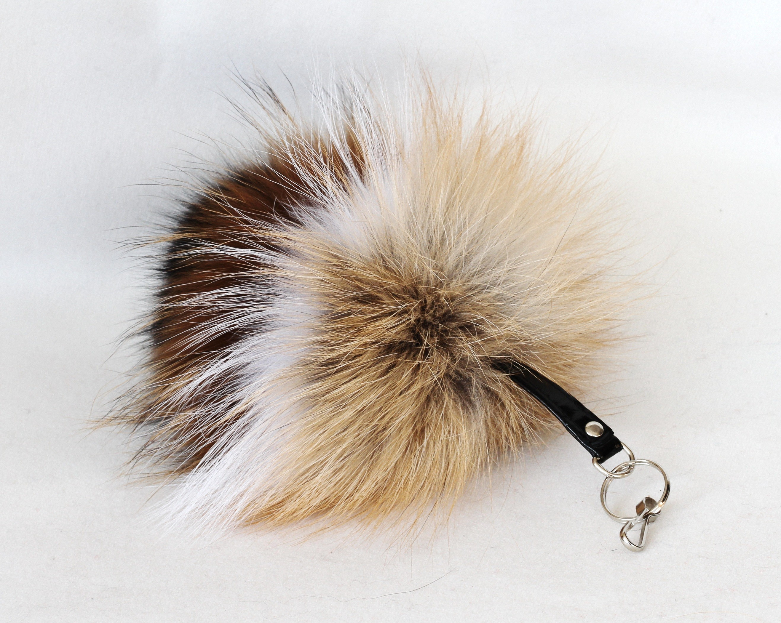 Buy Pom Pom Real Fur Bag Charm Pendant White Brown Black