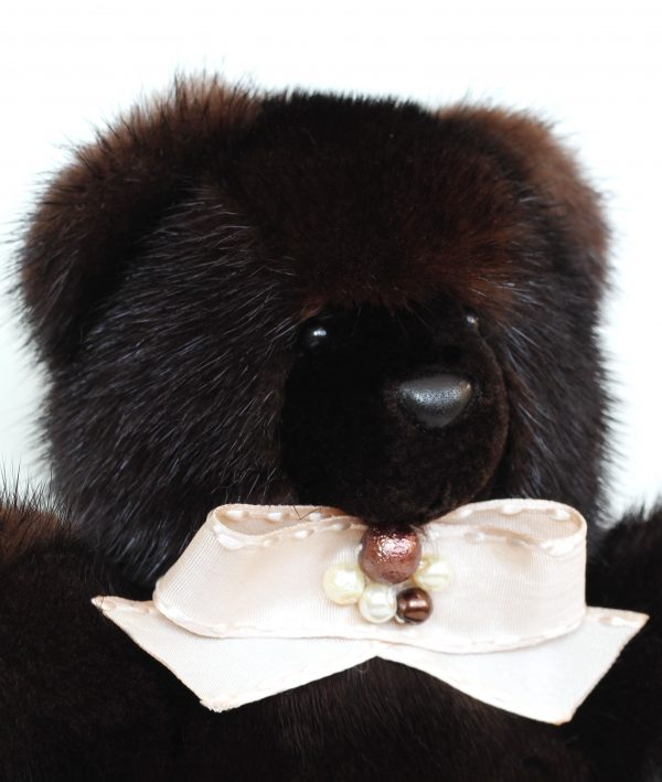 Buy Real Fur Mink Bear Dark Brown