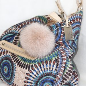 Buy Pom Pom Real Fur Polar Fox Bag Charm Pendant Beige