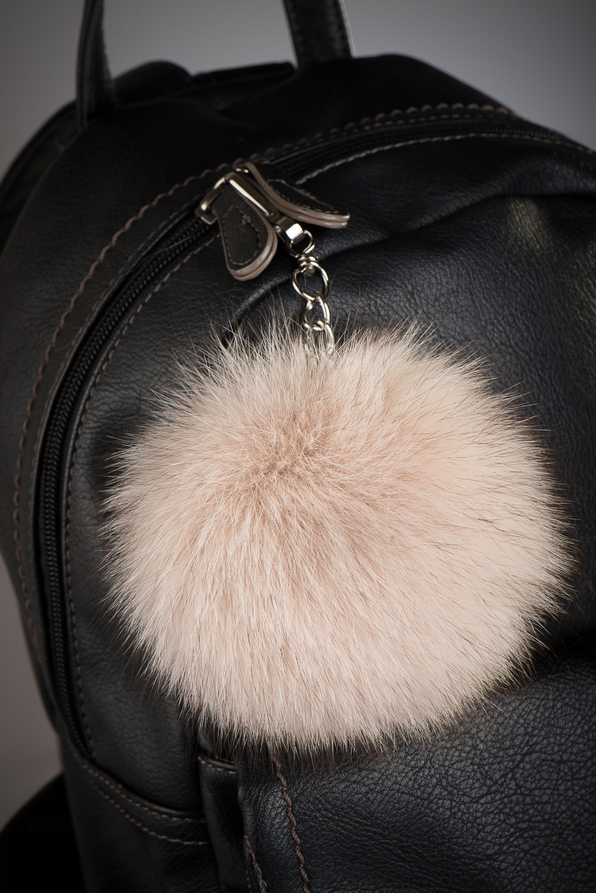 Buy Real Fox Fur Beige Pom Pom Keychain - Pom Fur 909841c6559e5