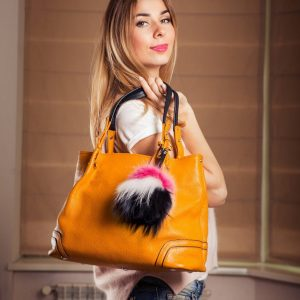 Buy Pom Pom Real Fur Bag Charm Pendant Mix Color