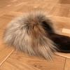Buy Women's Real Gray Fox Slippers