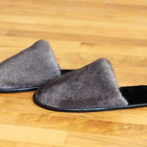 Buy Women's Slippers Real Mink Black