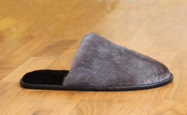 Buy Women's Slippers Real Mink Black
