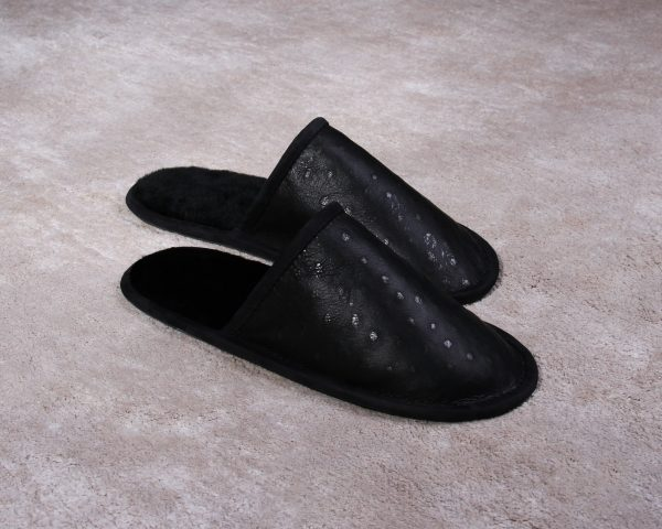 "Buy Men's Real Tanned Slippers ""Ostrich Feather"""