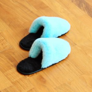 Buy Women's Slippers Real Mink Light Blue