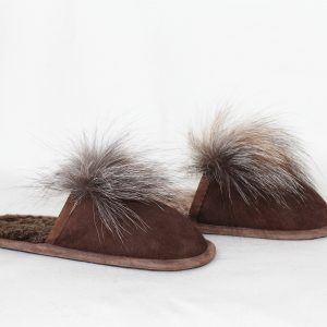 Buy Slippers Children Real Lambskin and Fox Slippers Last Pair