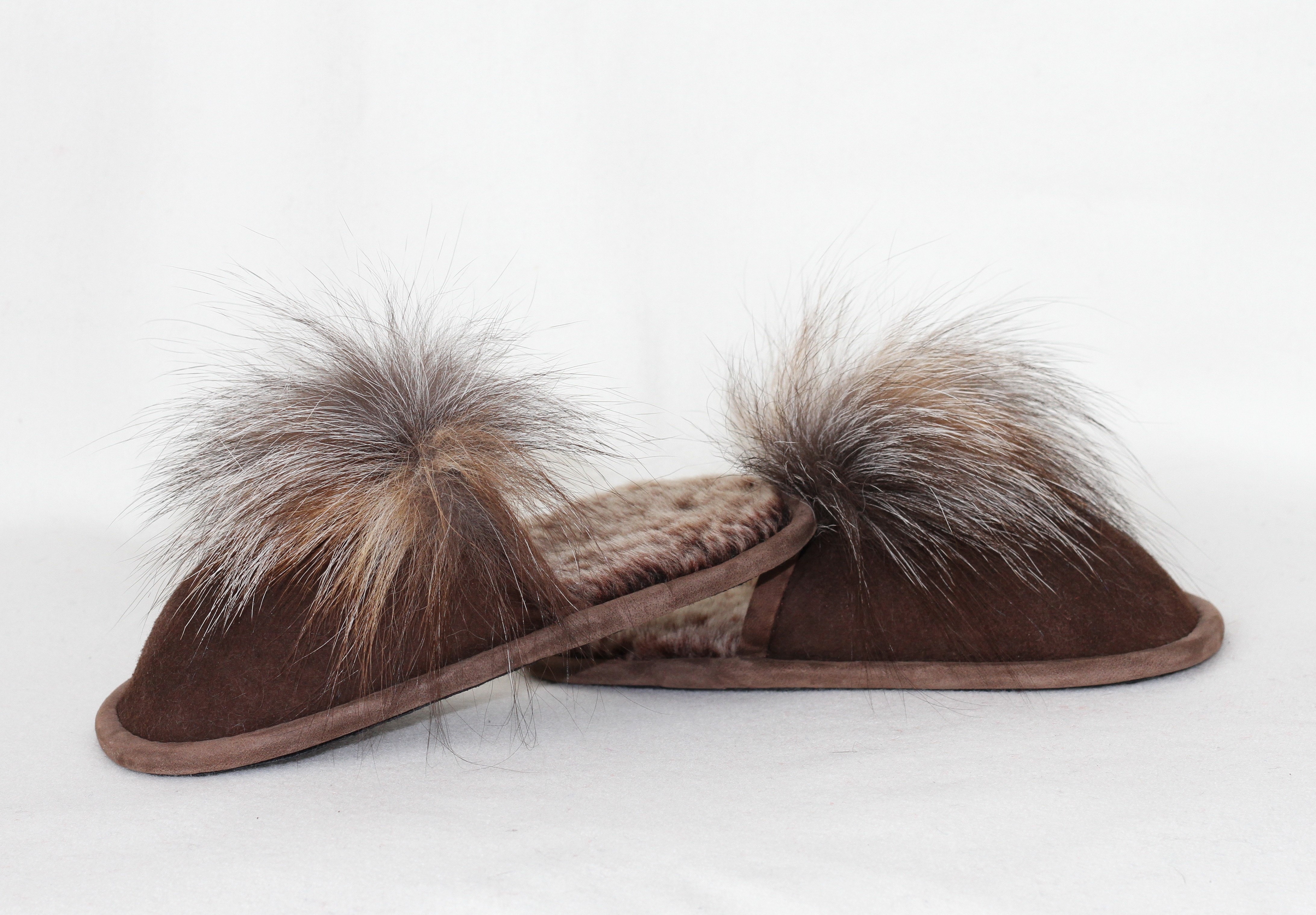 Buy Slippers Children Real Lambskin and Fox Slippers Last pare