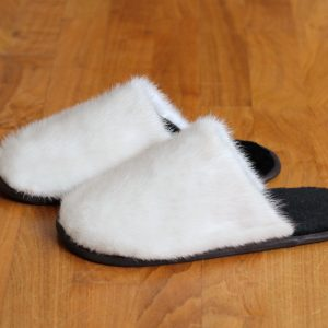 Buy Men's Slippers Real Mink Beige