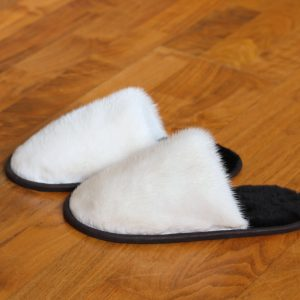 Buy Women's Slippers Real Mink Beige