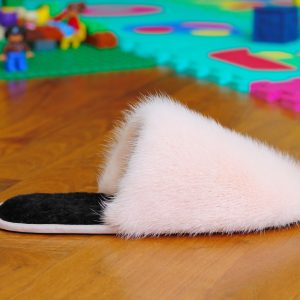 Buy Men's Slippers Real Mink Peach