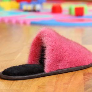 Buy Women's Slippers Real Mink Pink
