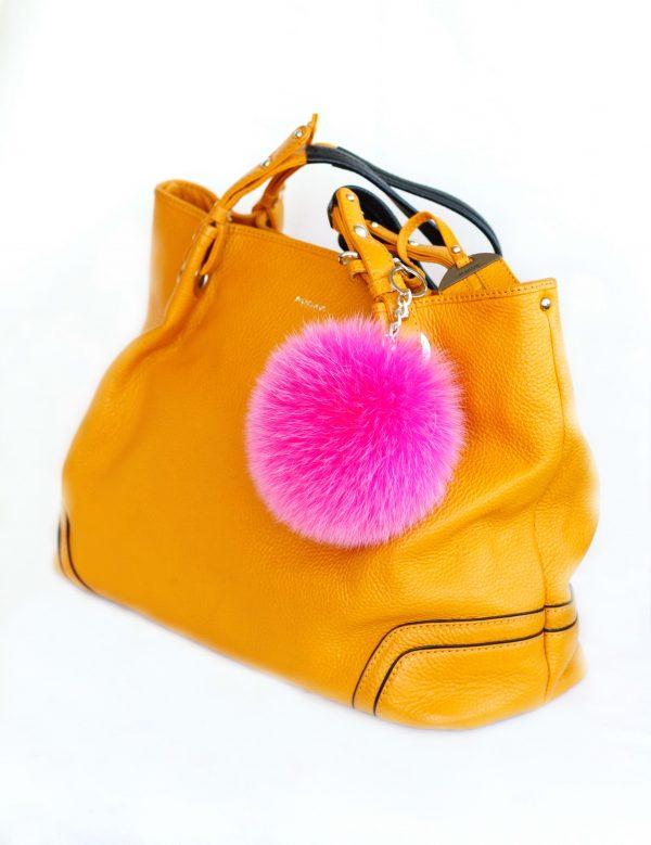 Buy Pom Pom Real Fur Polar Fox Bag Charm Pendant Pink Fucsia