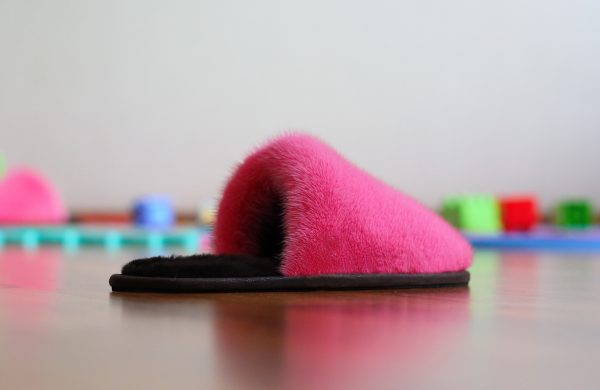 Buy Women's Slippers Real Mink Rose Fuchsia