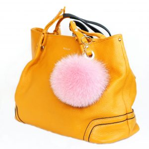 Buy Pom Pom Real Fur Polar Fox Bag Charm Pendant Pink