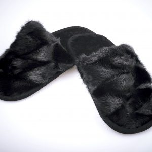 Buy Slippers Kids and Teens Real Mink Black Last Pair