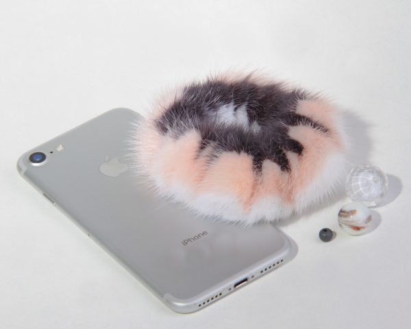 Buy Hair Scrunchie Real Mink Pink White Gray Mist