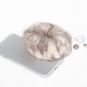 Buy Hair Scrunchie Real Mink Beige Brown
