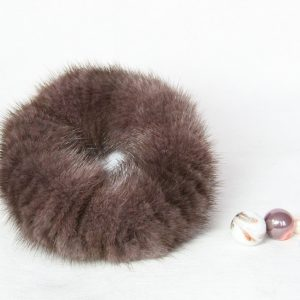 Buy Hair Scrunchie Real Mink Purple