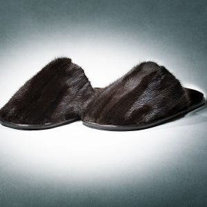 Buy Slippers Women Real Mink Fur Brown Last Pair